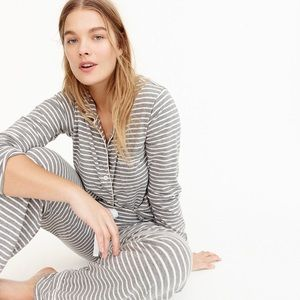 J. Crew | Dreamy Cotton Pajama Top in Stripe